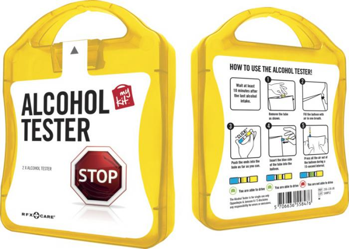 MyKit Alcohol tester geel