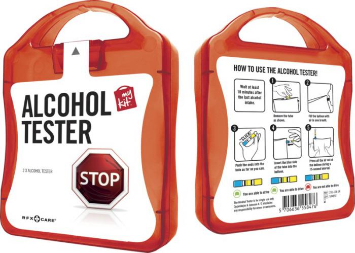 MyKit Alcohol tester rood